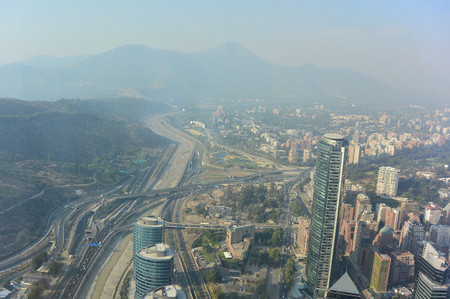 View_from_sky_costanera_in_santiago