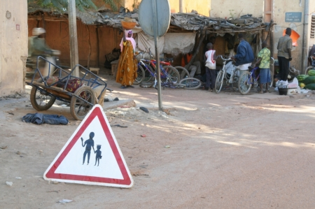 Road-sign-in-mopti-mali